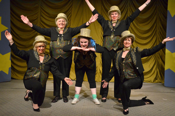 The cast of Curtain Up!