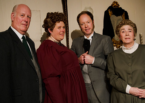 Martin Reddy (Inspector Martin), Hannah Reddy (Elizabeth), Liam Johnson (Gregory) and Mary Reddy (Ellen).